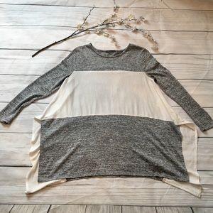 Really Pretty Gray & White Long Sleeve
